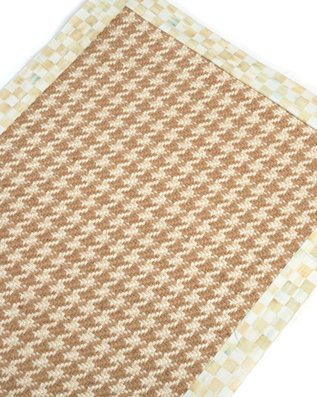 Houndstooth Wool/Sisal Runner, 2'6