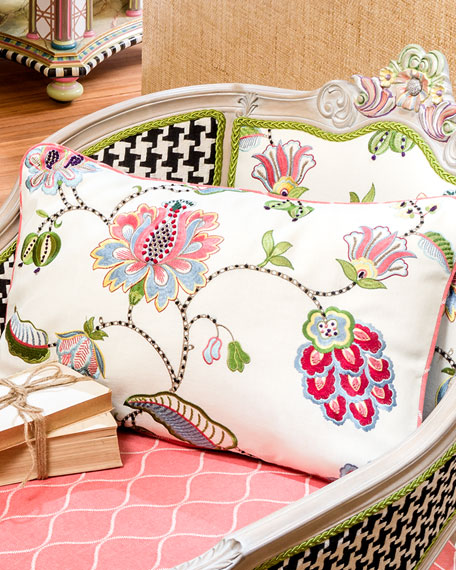 """Chelsea Garden Pillow, 22"""" x 16"""""""