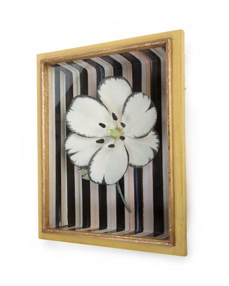 White Tulip Shadow Box