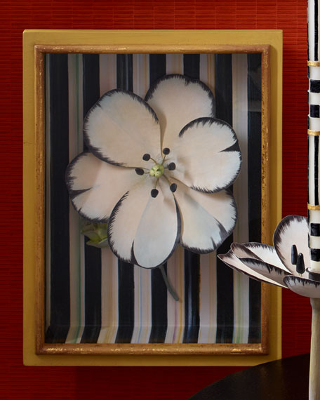 White Tulip Shadow Box