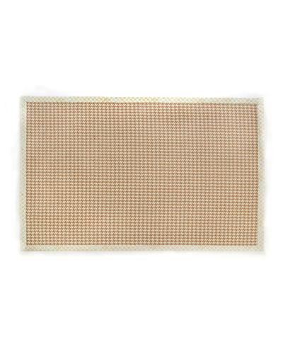 Houndstooth Wool/Sisal Rug  6' x 9'