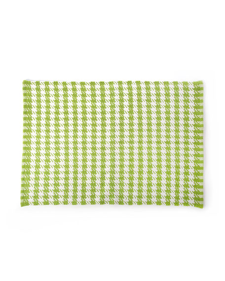 Chartreuse Houndstooth Scatter Rug