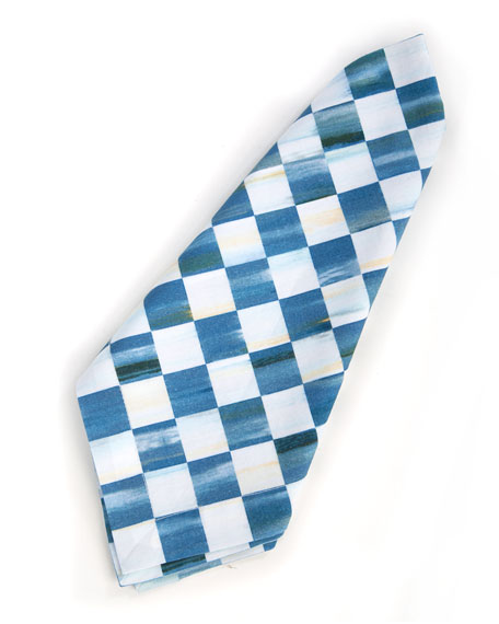 Berry Blue Check Napkin