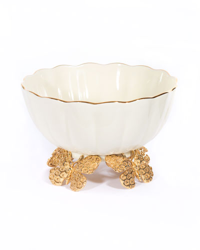 Porcelain Fluted Butterfly Bowl
