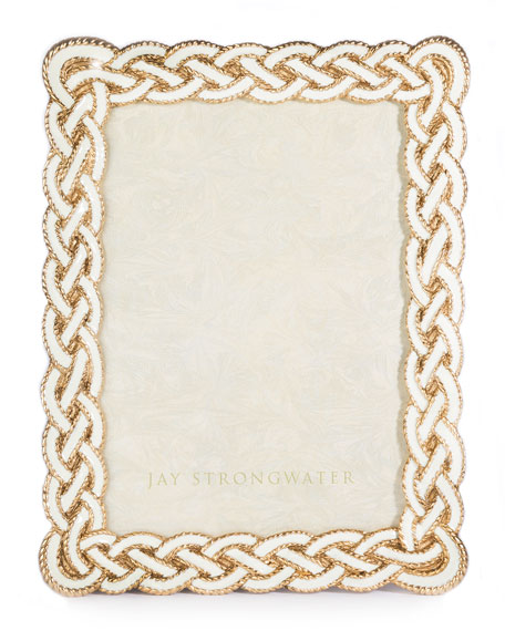 "Cream Braided Frame, 5"" x 7"""