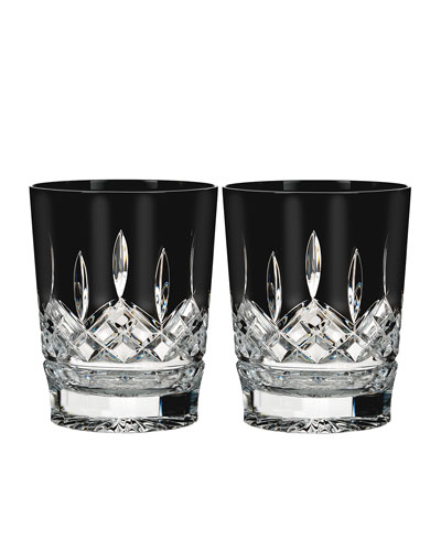 Set of 2 Lismore Black Double Old-Fashioneds
