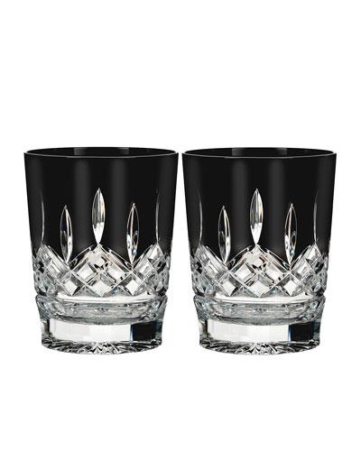 Set of 2 Lismore Black Double Old-Fashioneds