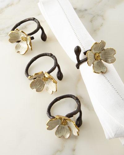Dogwood Napkin Ring  Set of 4