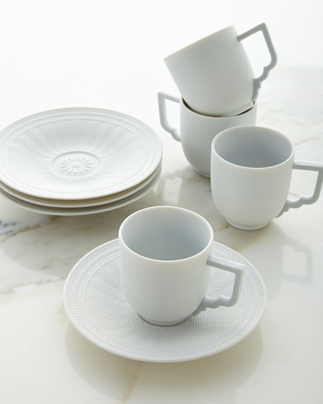 Palace Demitasse Cup and Saucer, Set of 4