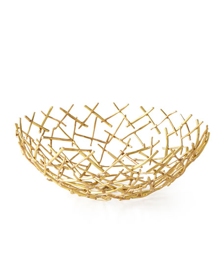 Decorative Thatch Bowl, Medium