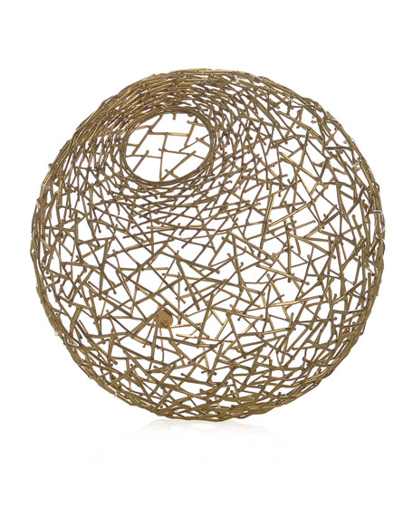 Michael Aram Decorative Thatch Ball, Small