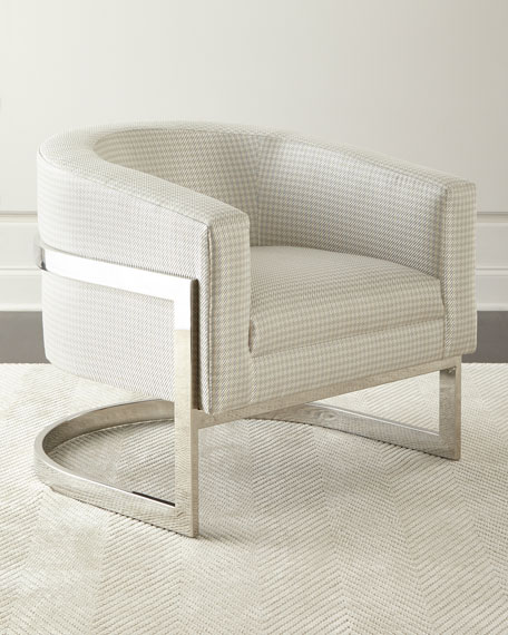 Bernhardt Dorota Houndstooth Chair