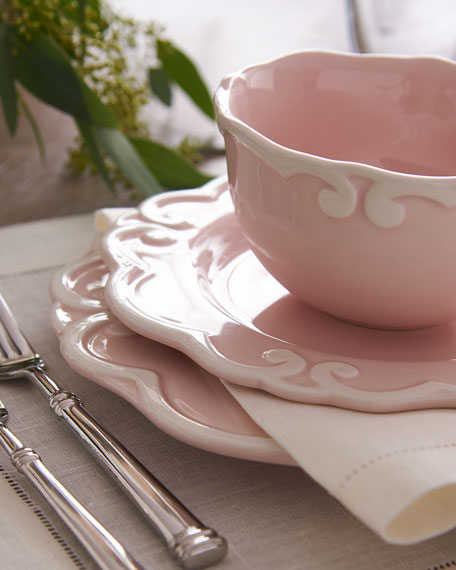 12-Piece Arabesque Dinnerware Service, Pink