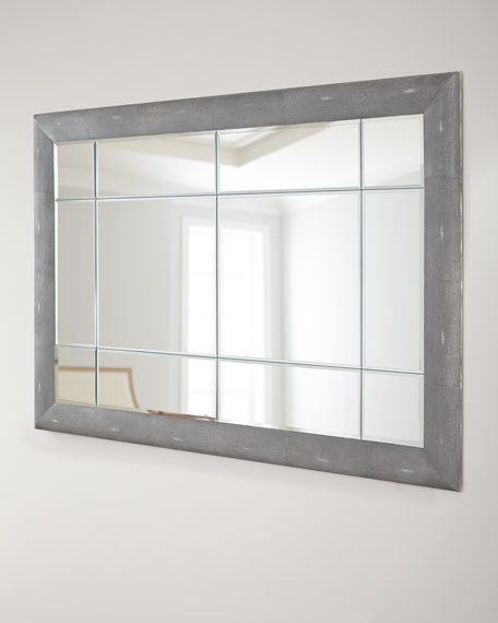 Etched Faux-Shagreen Mirror