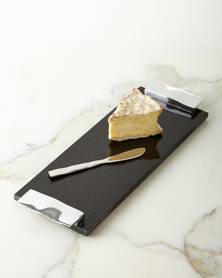 Ripple Effect Cheese Board & Knife