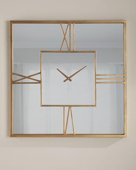 Mirror Clock, Gold