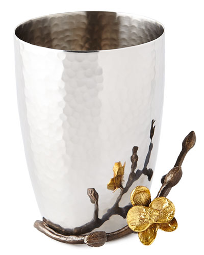 Gold Orchid Toothbrush Holder