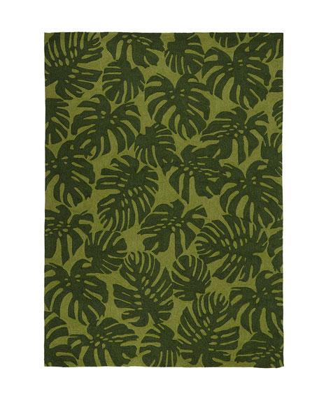 """Fond Leaf Indoor/Outdoor Mat, 3'6"""" x 5'6"""""""