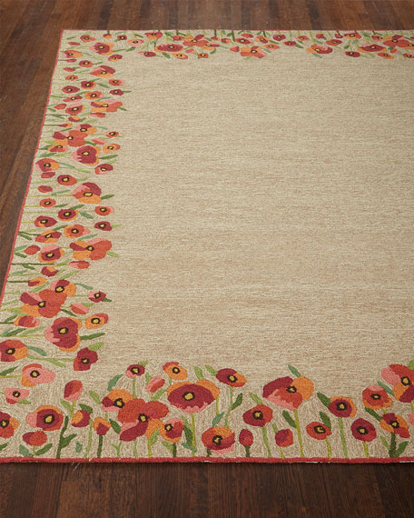 "Poppies Indoor/Outdoor Rug, 3'6"" x 5'6"""