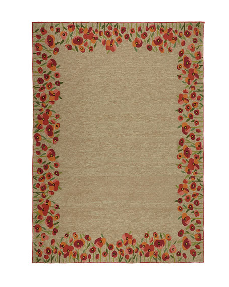 Poppies Indoor/Outdoor Rug, 5' x 7'6""