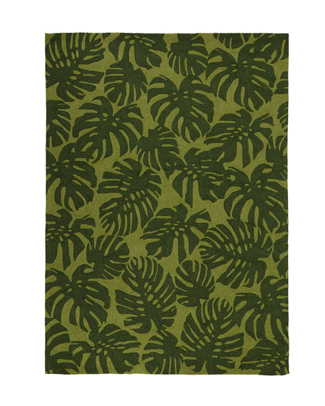 """Fond Leaf Indoor/Outdoor Rug, 7'6 x 9'6"""""""