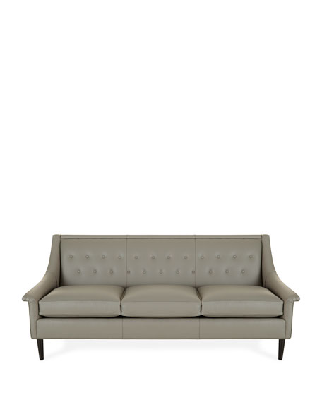 Gerald Tufted Back Leather Sofa