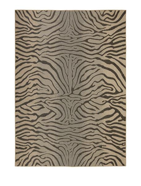 """Zebra Terrace Indoor/Outdoor Rug, 7'10""""Sq."""