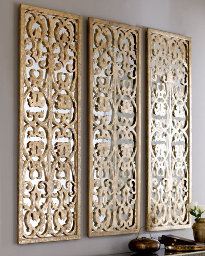 Decorative Wall Mirror Panels : Decorative wall mirrors floor at horchow