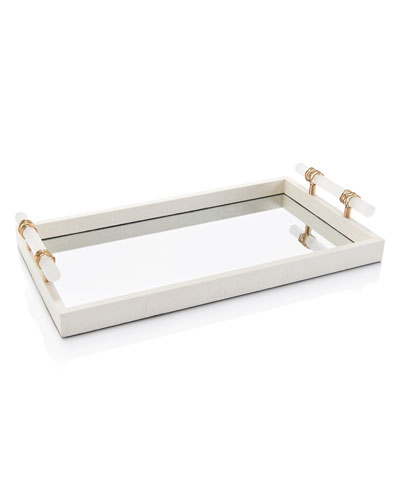 Mirrored Tray, Alabaster