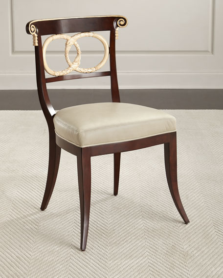 Amie Leather Accent Chair