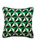 Green 3D Bargello Diamond Stud Pillow