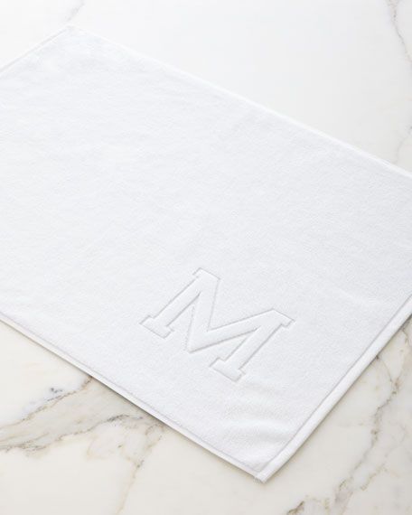 Auberge Monogrammed Tub Mat