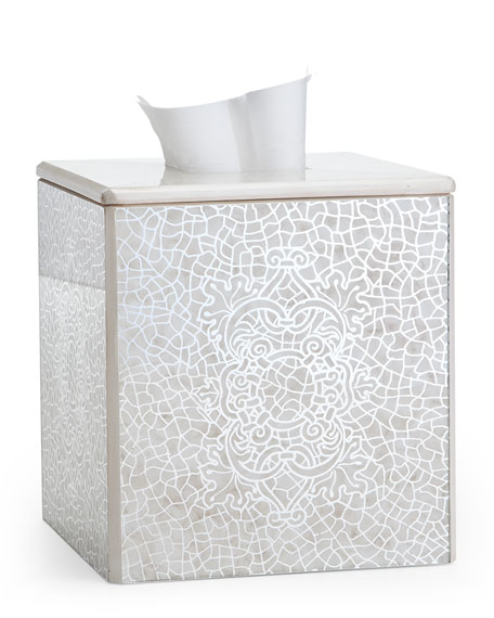 Miraflores Ivory Tissue Box Cover