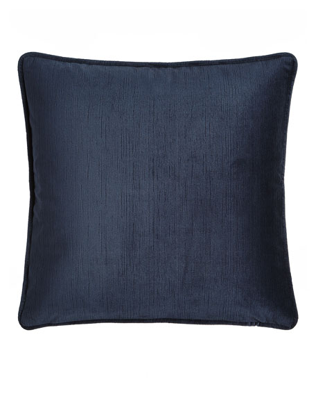 "Windfall Navy Velvet Pillow, 20""Sq."