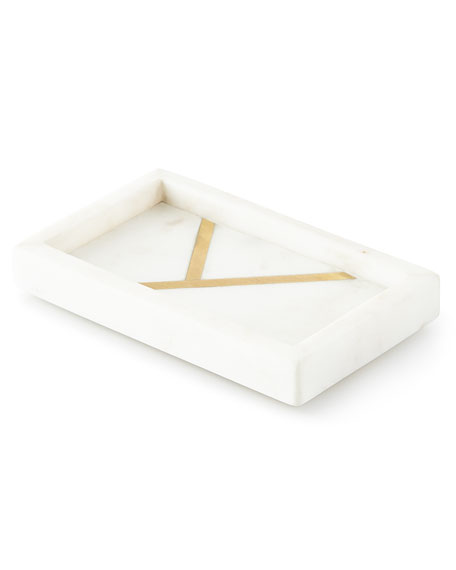 Marble Brass Soap Dish