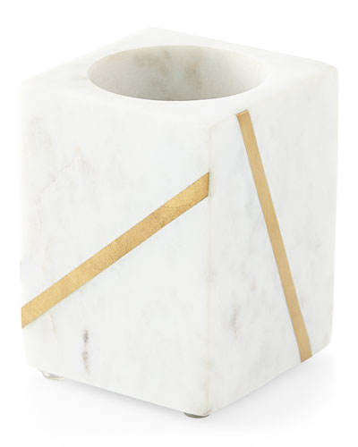 Marble Brass Tumbler