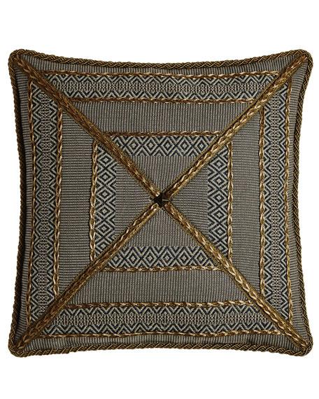 "Manitoba Mitered Stripe Pillow, 20""Sq."
