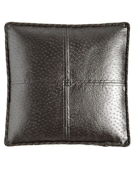 European Loft Faux-Leather Sham