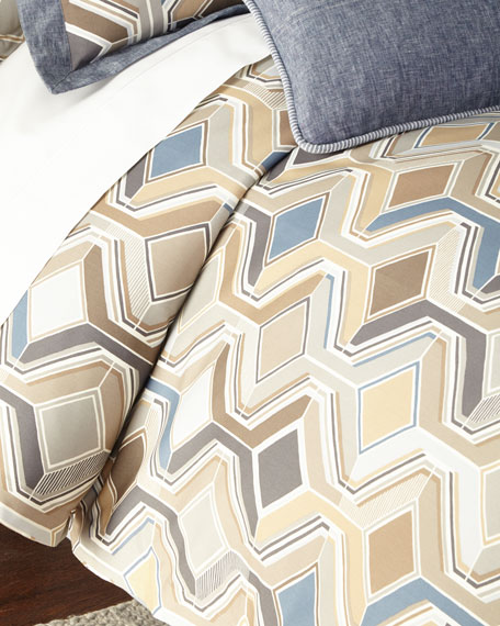 Queen Maze Geometric Duvet Cover