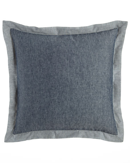 European Maze Chambray Blue Sham
