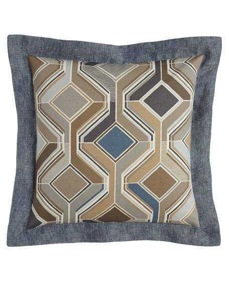 "Maze Geometric Pillow, 18""Sq."