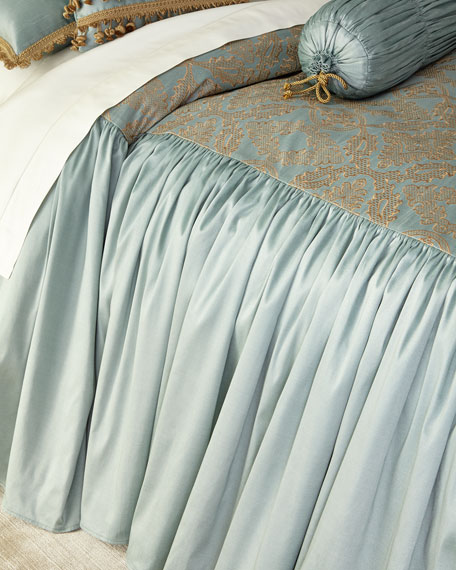 King Genevieve Skirted Coverlet