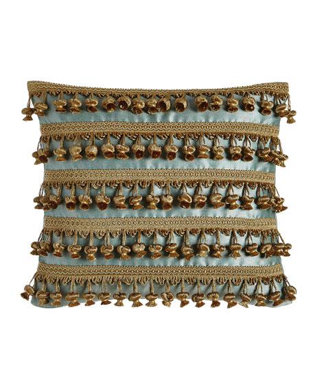 """Genevieve Pillow with Onion Trim, 14"""" x 16"""""""