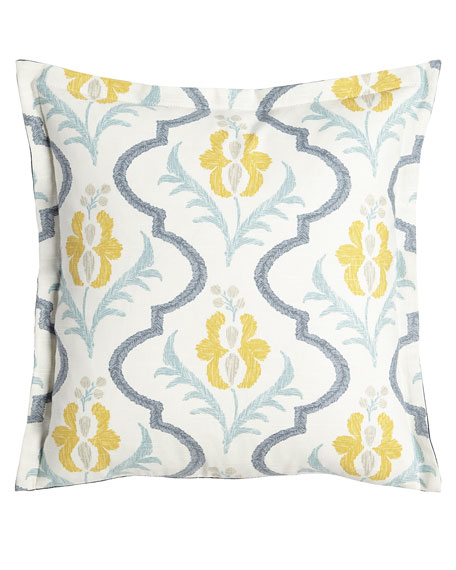 "Felicity Floral Pillow, 20""Sq."