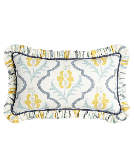 "Felicity Floral Pillow, 13"" x 23"""