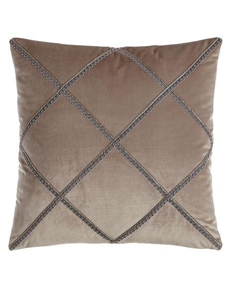 """Tranquility Velvet Pillow, 18""""Sq."""