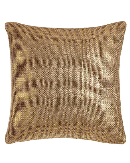 "Gold Glaze Pillow, 18""Sq."