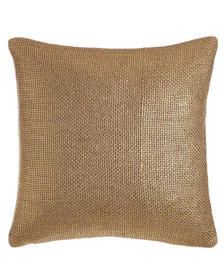 """Gold Glaze Pillow, 18""""Sq."""
