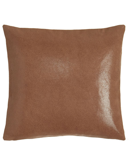 "Awakening Leather Pillow, 16""Sq."