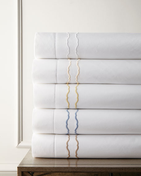 King Embroidered Percale Sham